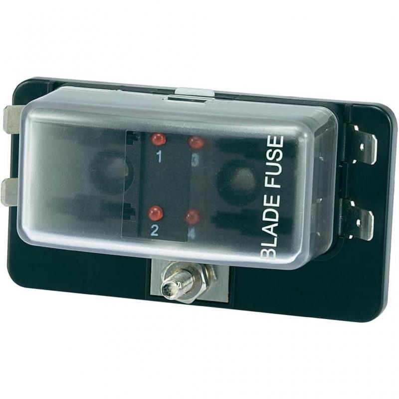 QitinDasen Premium KFZ 4-Fach Sicherungshalter Universal Standard Blade Sicherungsblock 12V//24V//32V//48V 2 Eingang 4 Ausgang Sicherungskasten mit Draht und 10Pcs Standard Flachsicherung