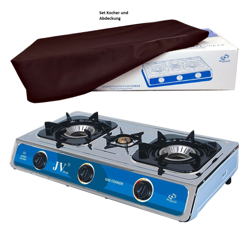 cago jv 03s campingkocher gaskocher 2 flammig tempest. Black Bedroom Furniture Sets. Home Design Ideas