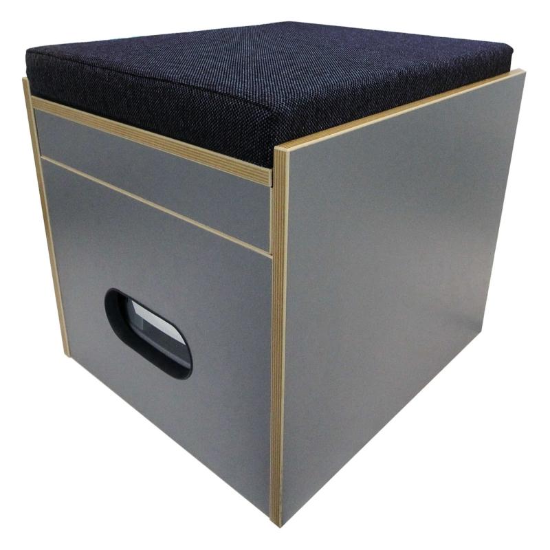 toiletten hocker mit toilette porta potti 145 polster blau stauraum. Black Bedroom Furniture Sets. Home Design Ideas