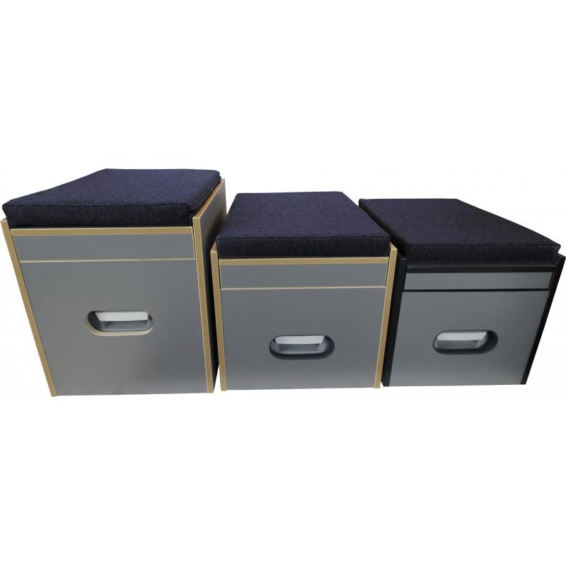 toiletten hocker mit toilette porta potti 165 polster blau stauraum. Black Bedroom Furniture Sets. Home Design Ideas