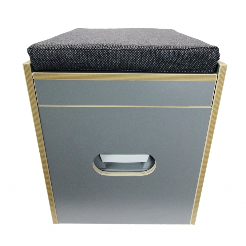 toiletten hocker mit toilette porta potti 165 polster schwarz staur. Black Bedroom Furniture Sets. Home Design Ideas