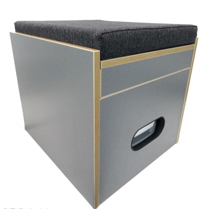 toiletten hocker mit toilette porta potti 365 polster schwarz staur. Black Bedroom Furniture Sets. Home Design Ideas