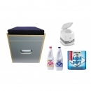 Toiletten Hocker Porta Potti 165 Polster blau Set mit...