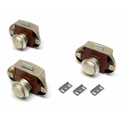 Push Lock Schl/össer 3er Set silber