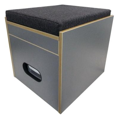 toiletten hocker porta potti 335 inkl polster schwarz. Black Bedroom Furniture Sets. Home Design Ideas
