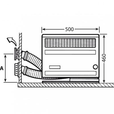 Truma Wandkaminset für Trumatic S 2200 - Wandkaminset komplett - Ausführung kurz - 30321-01