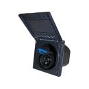 CEE Einspeisungsdose - mit Deckel - 230V - schwarz