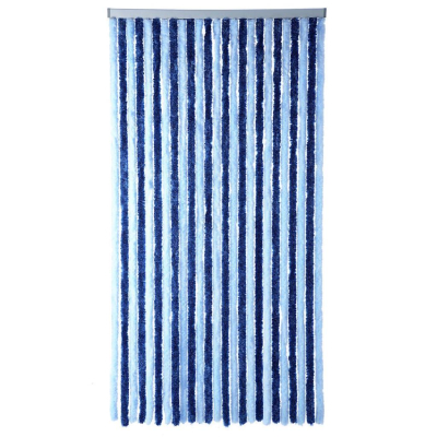 Chenille Flauschvorhang - 200x100 - blau/blau