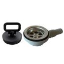 Ablaufgarnitur 25 / 20 mm für Waschbecken gewinkelt