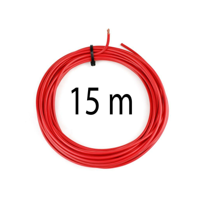KFZ Universalkabel - FLRY Typ B - 6mm² - Plusleitung - Rot 15 Meter