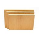 3er Set 120x162cm Möbelbauplatten Apfel Pappelsperrholz