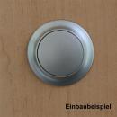 Möbelbauset 1 - 3x Push Lock groß (silber/vernickelt) + 6x Möbelscharnier