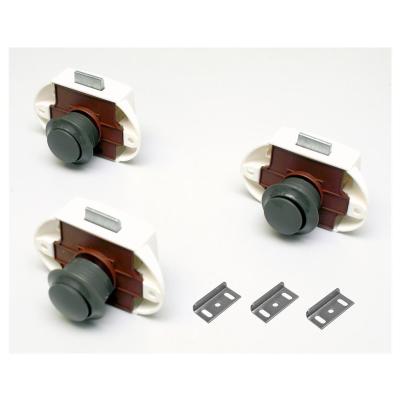 Premium Push Lock Schlösser - 3er Set - grau