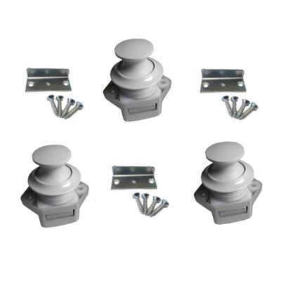 Push Lock Schlösser - Mini - 26mm Rosette+Knopf - 3er Set - hellgrau