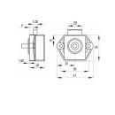 Push Lock Schlösser - Mini - 26mm Rosette+Knopf - 3er Set - silber