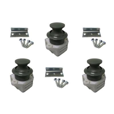 Push Lock Schlösser - Mini - 26mm Rosette+Knopf - 3er Set - dunkelgrau