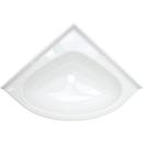 Eckwaschbecken mini oval - Einlegemulde - 345 x 345 mm