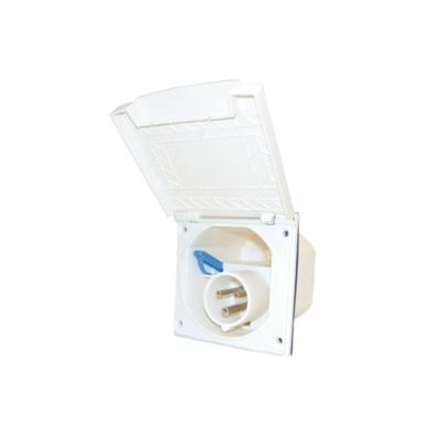 CEE Einspeisungsdose - mit Deckel - 230V - weiß