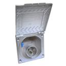 CEE Einspeisungsdose - mit Deckel - 230V - silbergrau