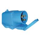 CEE Wandgeräte-Stecker - 230V - blau - mit Deckel