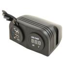 Aufbausteckdose - 2x USB Ladegerät + Spannungsanzeige