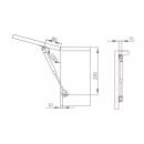 Pneumatischer Möbelklappenaussteller - 80N - 247mm