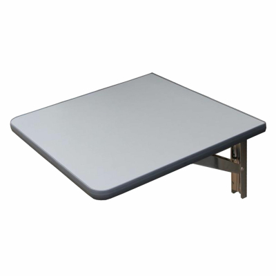 Wandklapptisch mit Edelstahl Klappenaussteller Anthrazit-Metallic B30 x T31 cm