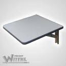 Wandklapptisch mit Edelstahl Klappenaussteller Anthrazit-Metallic B35 x T40 cm