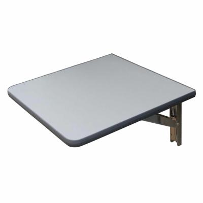 Wandklapptisch mit Edelstahl Klappenaussteller Anthrazit-Metallic B40 x T45 cm
