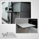 Wandklapptisch mit Edelstahl Klappenaussteller Anthrazit-Metallic B45 x T45 cm