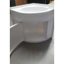 Eckwaschbecken 418x418x510 mm und Schrank