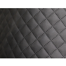 Möbelstoff Schwarz Karo 1 m - Stoff Kunstleder Polsterstoff Karostoff