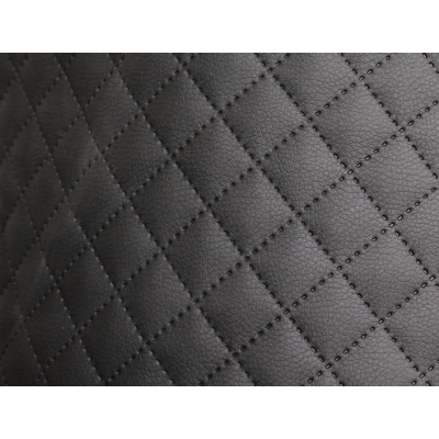 Möbelstoff Schwarz Karo 5 m Kunstleder Polsterstoff Karostoff