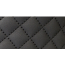 Möbelstoff Schwarz Karo 5 m Kunstleder Polsterstoff...