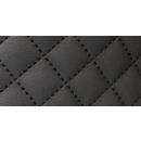 Möbelstoff Schwarz Karo 10 m - Stoff Kunstleder Polsterstoff Karostoff