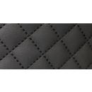 Möbelstoff Schwarz Karo 20 m - Stoff Kunstleder Polsterstoff Karostoff