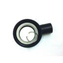Wasserabfluss schwarz 25mm - mit Stöpsel
