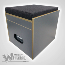 Toiletten Hocker Porta Potti 145/345 inkl. Polster schwarz ohne Toilette