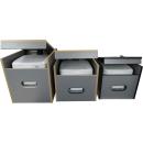 Toiletten Hocker mit Toilette Porta Potti 145 - Polster schwarz Stauraum Hocker