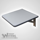 Wandklapptisch mit stahlverzinkten Klappenaussteller Anthrazit-Metallic B30 x T35 cm