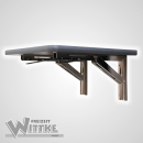 Wandklapptisch mit stahlverzinkten Klappenaussteller Anthrazit-Metallic B40 x T35 cm