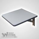 Wandklapptisch mit stahlverzinkten Klappenaussteller Anthrazit-Metallic B45 x T35 cm