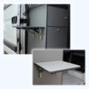 Wandklapptisch mit stahlverzinkten Klappenaussteller Anthrazit-Metallic B45 x T40 cm