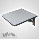 Wandklapptisch mit stahlverzinkten Klappenaussteller Anthrazit-Metallic B35 x T45 cm