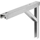 Wandklapptisch mit stahlverzinkten Klappenaussteller Anthrazit-Metallic B45 x T45 cm