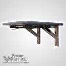 Wandklapptisch mit stahlverzinkten Klappenaussteller Apfelholz Dekor B35 x T31 cm