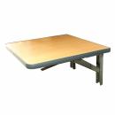 Wandklapptisch mit stahlverzinkten Klappenaussteller Apfelholz Dekor B35 x T45 cm