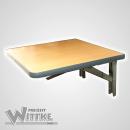 Wandklapptisch mit stahlverzinkten Klappenaussteller Apfelholz Dekor B45 x T45 cm