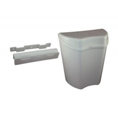 Torino Abfallbehälter 8L - Mülleimer - Papierkorb - Türmülleimer mit Deckel