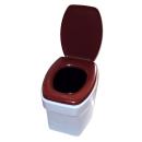 Stoffhocker für Carysan Gartentoilette Eimertoilette mit Toilette